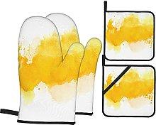 BIBOZHAO Oven Mitts and Potholders 4pcs Sets,Brush