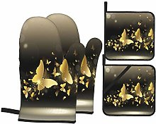 BIBOZHAO Oven Mitts and Potholders 4pcs