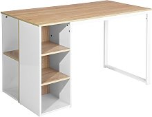 Bicolor Writing-Computer Desk with Storage, Large