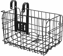 Bicycle Basket Foldable Metal Wire Basket Front