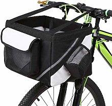 Bicycle Basket, Pet Cat Dog Carrier Bike Handlebar