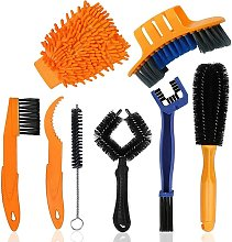 Bicycle cleaning brush, bicycle cleaning kit,
