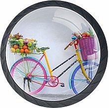 Bicycle Fruit Basket Crystal Drawer Handles
