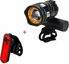 Bicycle Headlight T6 Focusing Headlight Waterproof