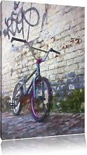 Bicycle in front of Graffiti Wall Art Print on