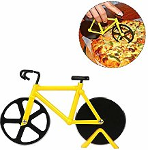 Bicycle Pizza Cutter, Stainless Steel Double Pizza