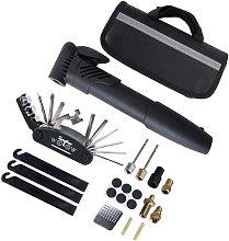 Bicycle tire repair kit, bicycle repair tool belt