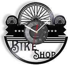 Bicycle Tires Vinyl LP Record Wall Clock Bike