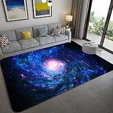Big Area Floor Rug,Space Galaxy 3D Print