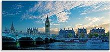 Big Ben London Parliament Cityscape Blue Skyline