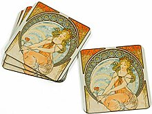 Big Box Art 4-Piece Coaster Set for Drinks with