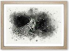 Big Box Art A Leopard in Abstract Framed Wall Art