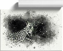 Big Box Art A Leopard in Abstract, Wall Art Poster