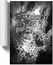 Big Box Art Bright Eyed Leopard in Abstract, Wall