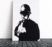 Big Box Art Canvas Print Banksy Rude Copper