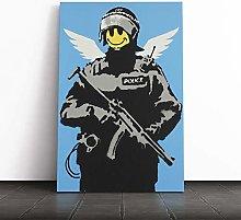 Big Box Art Canvas Print Banksy Smiley Copper Wall