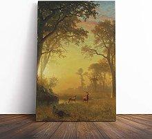 Big Box Art Canvas Print Wall Art Albert Bierstadt