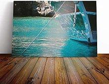 Big Box Art Canvas Print Wall Art Boat with Anchor
