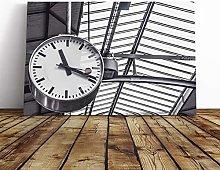 Big Box Art Canvas Print Wall Art Deadline Clock  