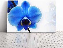 Big Box Art Canvas Print Wall Art Flower Blue