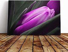 Big Box Art Canvas Print Wall Art Flower Purple