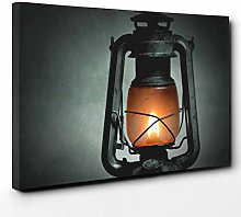 Big Box Art Canvas Print Wall Art Kerosene Lamp |