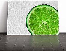 Big Box Art Canvas Print Wall Art Lime with Tonic