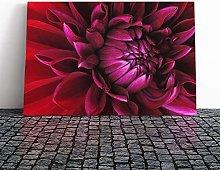 Big Box Art Canvas Print Wall Art Red Purple