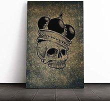 Big Box Art Canvas Print Wall Art Skull with a