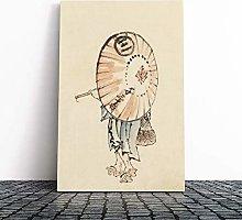 Big Box Art Canvas Print Wall Hokusai Girl with