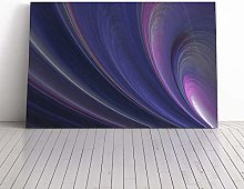 Big Box Art Canvas Print Wall Purple Abstract Art