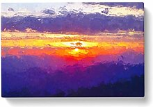 Big Box Art Cloudy Sunset in Abstract Canvas Wall