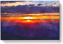 Big Box Art Cloudy Sunset Painting Canvas Wall Art