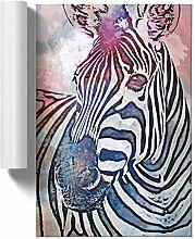 Big Box Art Colourful Zebra in Abstract, Wall Art