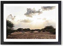Big Box Art Djibouti Africa Landscape Zebra Framed
