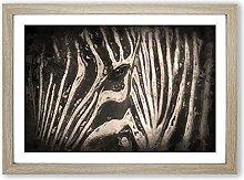 Big Box Art Eye of The Zebra in Abstract Framed