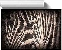 Big Box Art Eye of The Zebra in Abstract, Wall Art