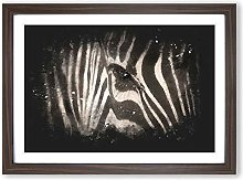 Big Box Art Eye of The Zebra Paint Splash Framed