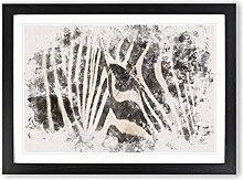 Big Box Art Eye of The Zebra Watercolour Framed