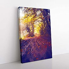 Big Box Art Forest Path in France in Abstract
