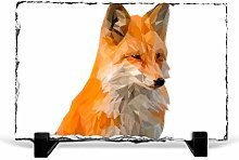 Big Box Art Geometric Red Fox in Abstract, Slate
