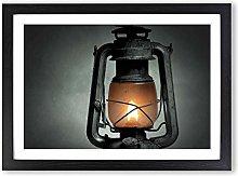 Big Box Art Kerosene Lamp Framed Wall Art Picture