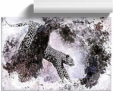 Big Box Art Leopard Climbing from a Tree in