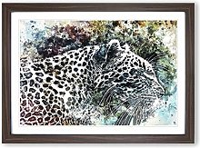 Big Box Art Leopard in Abstract Framed Wall Art