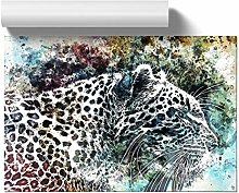 Big Box Art Leopard in Abstract, Wall Art Poster