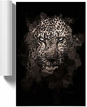 Big Box Art Leopard in The Dark in Abstract, Wall
