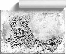 Big Box Art Leopard Resting in Abstract, Wall Art