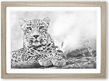 Big Box Art Leopard Resting Painting Framed Wall