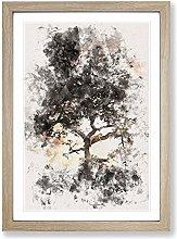 Big Box Art Leopard Siesta Watercolour Framed Wall