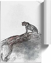 Big Box Art Leopard Upon The Rock in Abstract,